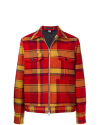 rote Shirtjacke mit Schottenmuster von Ps By Paul Smith