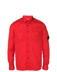rote Shirtjacke