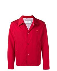 rote Shirtjacke von AMI Alexandre Mattiussi