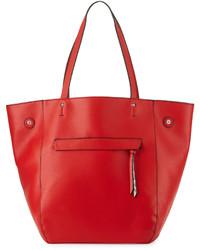 rote Shopper Tasche aus Leder mit Schlangenmuster