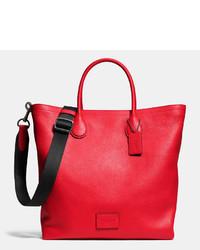 Rote Shopper Tasche aus Leder