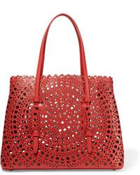 rote Shopper Tasche aus Leder von Alaia