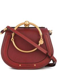 rote Shopper Tasche aus Leder von Chloé
