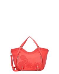 rote Shopper Tasche aus Leder von Desigual