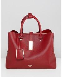 rote Shopper Tasche aus Leder von Dune