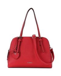rote Shopper Tasche aus Leder von EMILY & NOAH