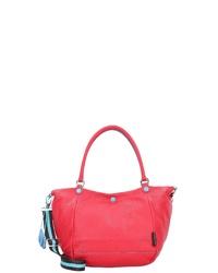 rote Shopper Tasche aus Leder von Gabs