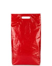 rote Shopper Tasche aus Leder von Helmut Lang
