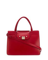 rote Shopper Tasche aus Leder von Jimmy Choo