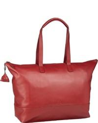 rote Shopper Tasche aus Leder von Jost