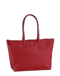 rote Shopper Tasche aus Leder von Lacoste