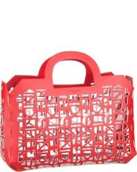 rote Shopper Tasche aus Leder von Liebeskind Berlin
