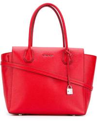 rote Shopper Tasche aus Leder von Michael Kors