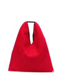 rote Shopper Tasche aus Leder von MM6 MAISON MARGIELA