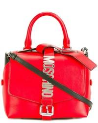 rote Shopper Tasche aus Leder von Moschino