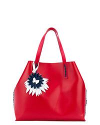 rote Shopper Tasche aus Leder von P.A.R.O.S.H.