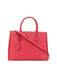 rote Shopper Tasche aus Leder von Prada