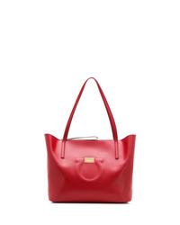 rote Shopper Tasche aus Leder von Salvatore Ferragamo