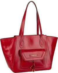 rote Shopper Tasche aus Leder von The Bridge