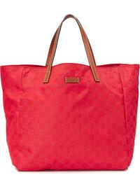 rote Shopper Tasche aus Segeltuch