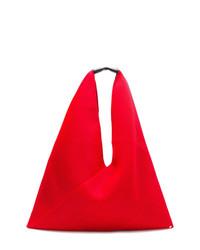 rote Shopper Tasche aus Segeltuch von MM6 MAISON MARGIELA