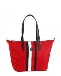 rote Shopper Tasche aus Segeltuch von Tommy Hilfiger