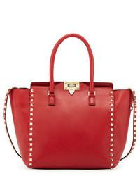 rote Shopper Tasche