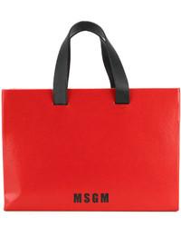 rote Shopper Tasche von MSGM
