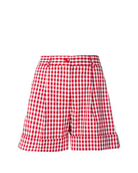 rote Shorts mit Karomuster von P.A.R.O.S.H.