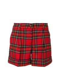 rote Shorts mit Schottenmuster von P.A.R.O.S.H.