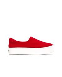 rote Slip-On Sneakers aus Segeltuch von Opening Ceremony
