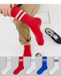 rote Socken von ASOS DESIGN