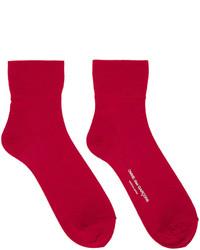 rote Socken von Comme des Garcons