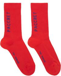 rote Socken von Gosha Rubchinskiy