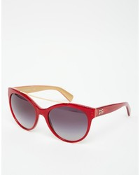 rote Sonnenbrille von Dolce & Gabbana