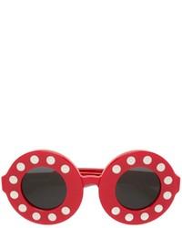 rote Sonnenbrille von Linda Farrow