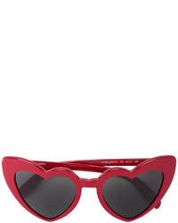 rote Sonnenbrille von Saint Laurent