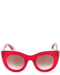 rote Sonnenbrille von Thierry Lasry