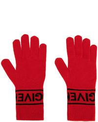 rote Strick Handschuhe von Givenchy