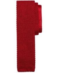rote Strick Krawatte