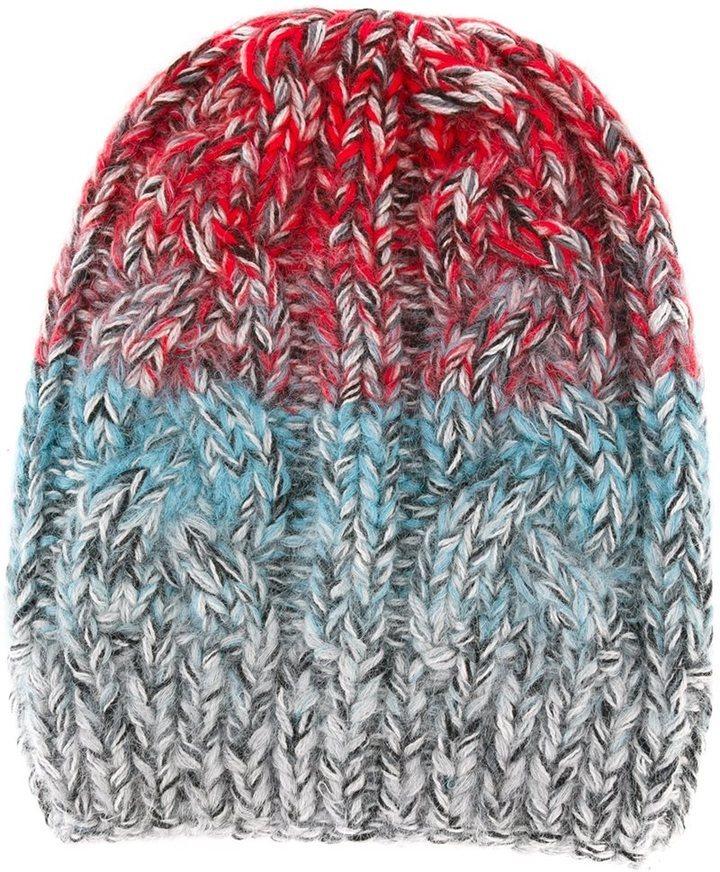 rote Strick Mohair Mütze von Missoni
