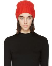 rote Strick Mütze von Rag & Bone