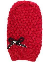 rote Strick Mütze von Twin-Set