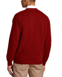 rote Strickjacke von Alan Paine