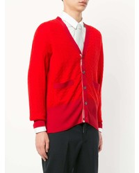 rote Strickjacke von Thom Browne