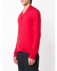 rote Strickjacke von Comme des Garcons