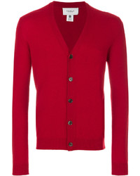 rote Strickjacke von Pringle