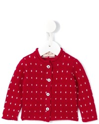 rote Strickjacke