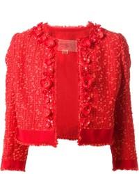 rote Tweed-Jacke