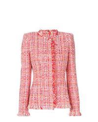 rote Tweed-Jacke von Alexander McQueen